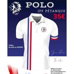 Polo - JPF Pétanque Blanc